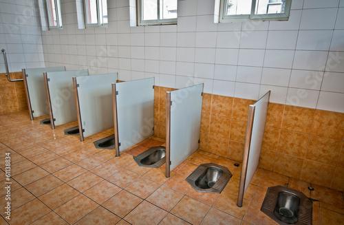 Foto op Plexiglas Beijing inside the typical public toilet in Beijing, China