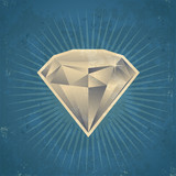 Retro Diamond Illustration