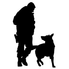 Police Dog Silhouette 5