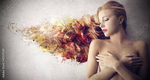 Leinwandbild Motiv 3d beauty