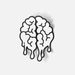realistic design element: brain drop