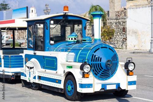 Touristic street bus train for sightseeing