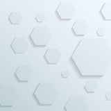 Transparent background with hexagon elements