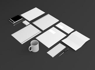 Geschäftsausstattung Template Hintergrund dunkel