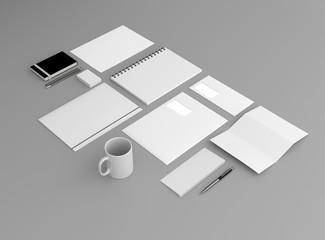 Geschäftsausstattung Template Hintergrund grau