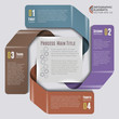 Origami Style Labels Infographic