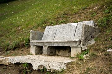 Rustikale Sitzbank