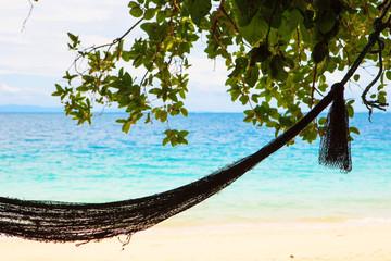 Hammock in paradise beach