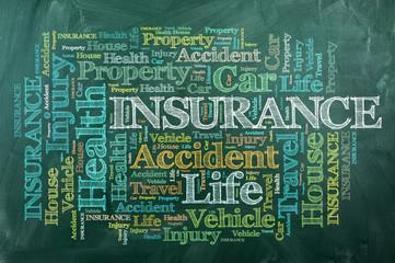 insurance chalckboard