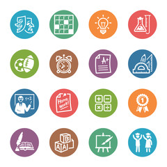 School and Education Icons - Set 4 | Dot Series