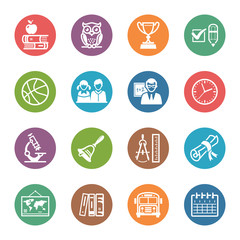School and Education Icons - Set 3   Dot Series