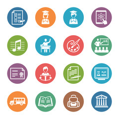 School and Education Icons - Set 2 | Dot Series