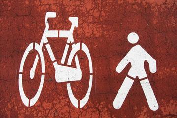 Segnale di pista ciclopedonale