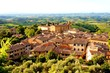 Countryside view and the town of San Gimignano, Tuscany, Italy