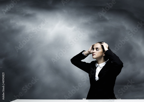 Depressed businesswoman