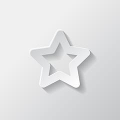 Favorite sign icon. Star symbol.