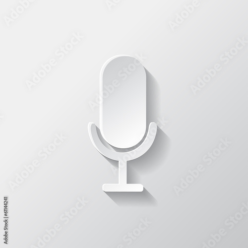 Microphone icon. Sound recording