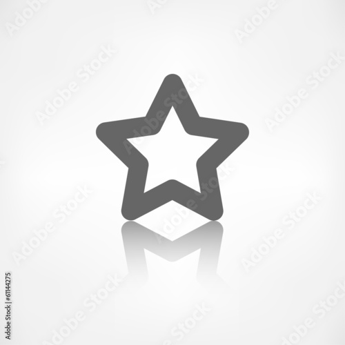 Favorite sign icon. Star symbol.