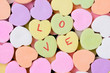Candy Hearts Macro With LOVE Spelled Out