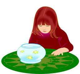Girl with Goldfish Bowl