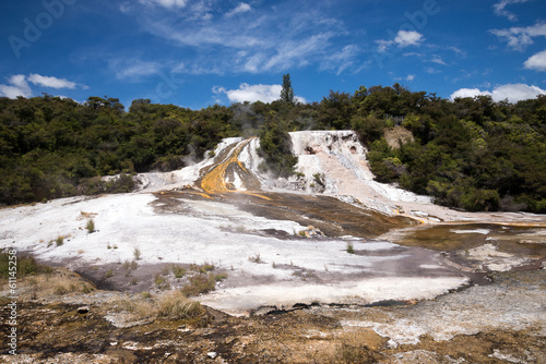 Orakei Korako geothermal park in New Zealand