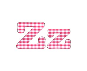 Abc fabric gingham, letter Z.