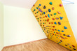 Oblique climbing wall at home