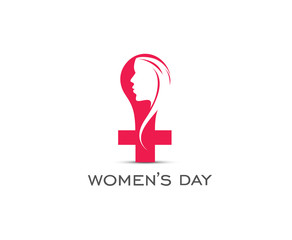 Happy Women's Day Design Element.