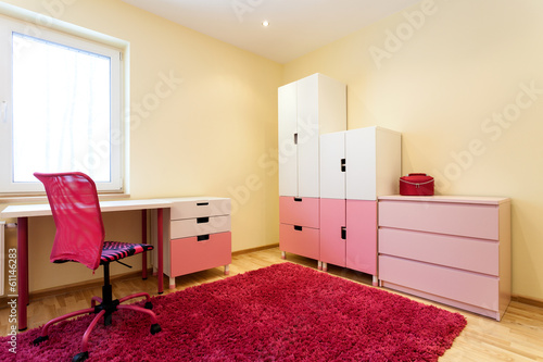 Cute pink children room
