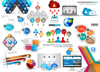 Fresh new Collection of Infographics Template and elements.