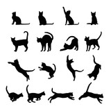 Fototapety Cats  silhouette collection, vector