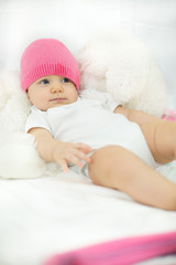 Portrait of six months old baby