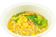 Homemade Quick instant noodles with corn and vegetable