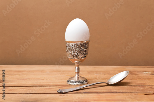 Egg in  vintage glass