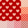 seamless red, orange and pink heart background pattern