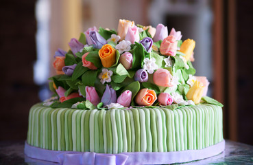 Beautiful tasty cake
