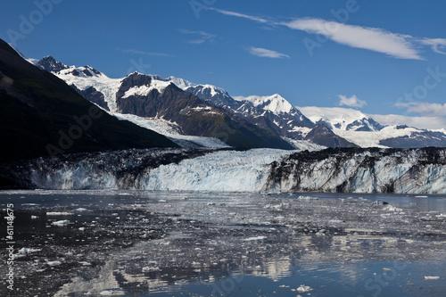 Leinwandbild Motiv Ice melting from glacier in College Fjord