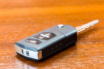 close up and isolated car key