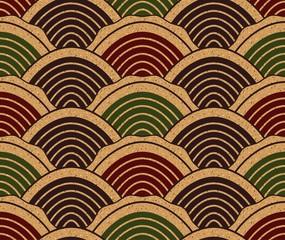 seamless chinese ocean wave pattern