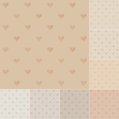 seamless heart pattern recycled paper, cardboard with gradient