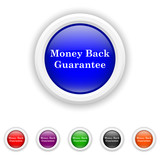 Money back guarantee icon - six colours set vector