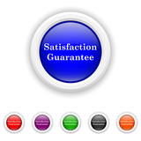 Satisfaction guarantee icon - six colours set vector
