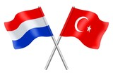 Flags: Nederland and Turkey