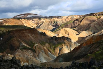 colored canyons of landmannalaugar, iceland