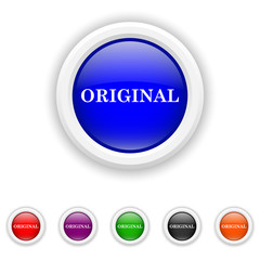 Original icon - six colours set vector