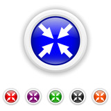 Exit full screen icon - six colours set vector