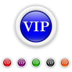 VIP icon - six colours set vector