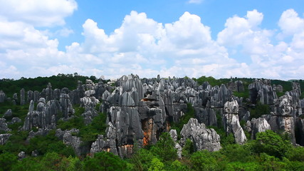 stone forest China kunming landscape
