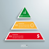 Colored Pyramid 3 Pieces Infographic