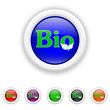 Bio icon - six colours set vector